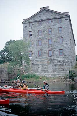 Paddling past a Historic Mill in Woonsocket