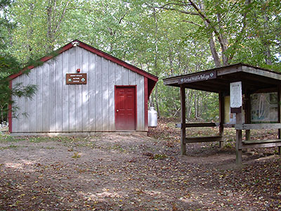 The Trailhead Kiosk and Nature Center at Kimball Sanctuary