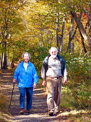A Couple Walking along the Yellow Trail